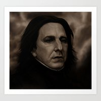 snape Art Prints featuring Snape by The Terribilita