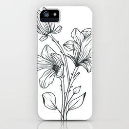 Magnolia Line Design iPhone Case