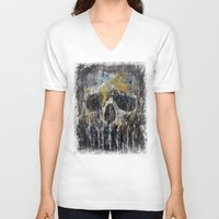 cthulhu V-neck T-shirts featuring Cthulhu by Michael Creese