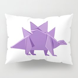 Origami Stegosaurus Pillow Sham