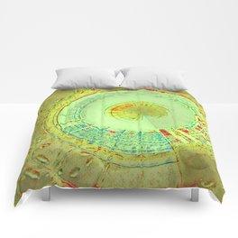 Disturbed Mandalic Patchwork in Yellow Comforters