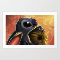 stitch Art Prints featuring Stitch by pandatails