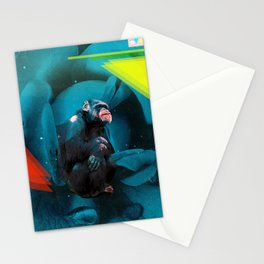 Space Chimp Stationery Cards