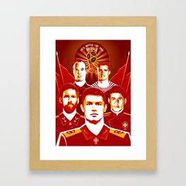 Russia football poster Framed Art Print