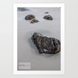 Heart Rock Art Print
