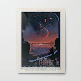 Retro Space Travel Poster NASA-Trappist. Metal Print