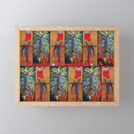 Parrots and Pineapples Framed Mini Art Print