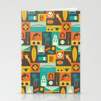 san diego Stationery Cards featuring San Diego  by Ariel Wilson