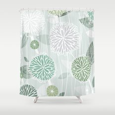 Abstract Floral by Friztin Shower Curtain