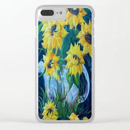 Sunflowers in a Country Pot Clear iPhone Case