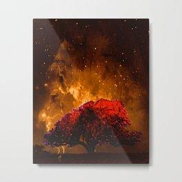 Fire Tree II Metal Print