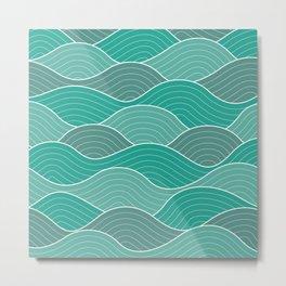Waves (blue) Metal Print