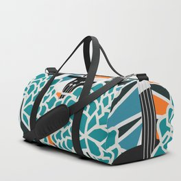 Guitars, flowers and leaves Duffle Bag