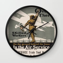 Vintage poster - Air Service Trade Test Board Wall Clock