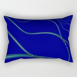 BLUE GRID 2E Rectangular Pillow