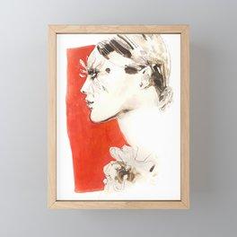 Feather lashes. Fashion illustration Framed Mini Art Print