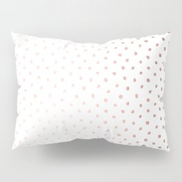 Cool Rose Gold Polka Dots Pillow Sham