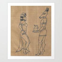 Egyptian Beauty 2 Art Print