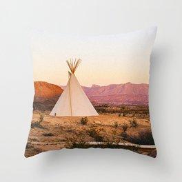 Tipi / Texas Throw Pillow