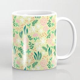 Rose Pattern like Morris - Green Coffee Mug