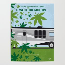 No763 My We are the Millers minimal movie poster Poster
