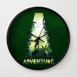 A for Adventure Wall Clock