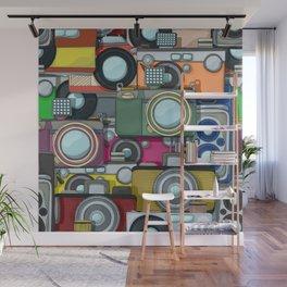 Vintage camera pattern Wall Mural