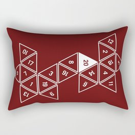 Red Unrolled D20 Rectangular Pillow