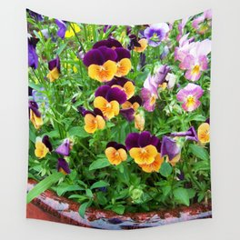 Petunias in a Pot Wall Tapestry
