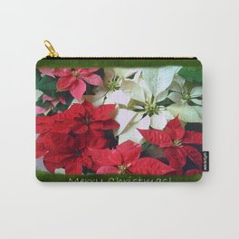 Mixed color Poinsettias 1 Merry Christmas P1F5 Carry-All Pouch