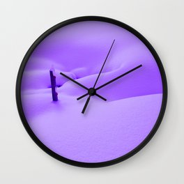 Purple Snow Wall Clock