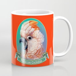 Moluccan Cockatoo realistic painting Coffee Mug