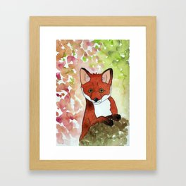 Peek-A-Boo Fox Framed Art Print