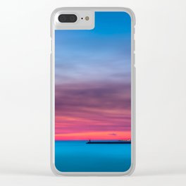 Red sunset over Porto Clear iPhone Case