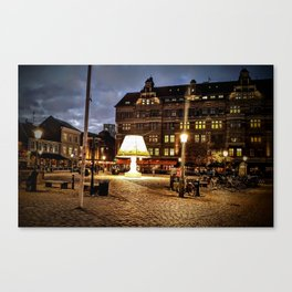 Lamps in Malmo Canvas Print