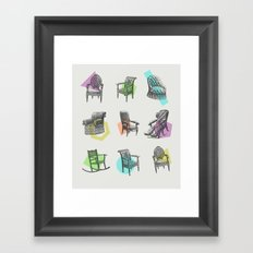 Old Chairs Framed Art Print