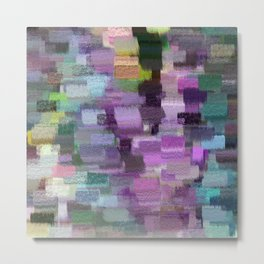 abstract colorful pastel drawing purple blue tones Metal Print