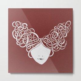 Iconia Girls - Isabella Marsala Metal Print