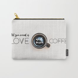 Love & Coffee Carry-All Pouch