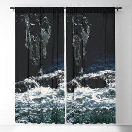 Dark Oceanic Cliff Blackout Curtain