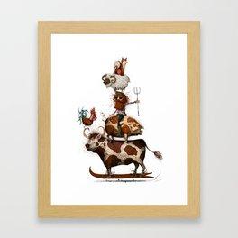 Animal Stack Framed Art Print