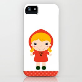 Red riding hood girl in kawaii style iPhone Case