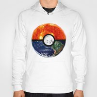 pokeball Hoodies featuring Galaxy Pokeball by Advocate Designs