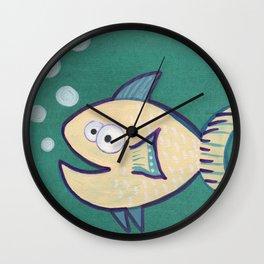 HAPPY HAPPY FISH! Wall Clock