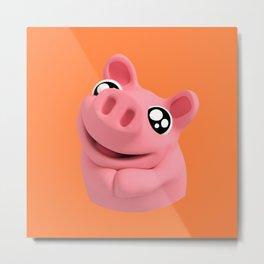 Rosa the Pig is Cute Metal Print