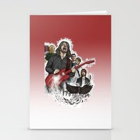 foo fighters Stationery Cards featuring Foo Fighting by Jaimie