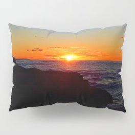 Sandstone Cliff Indian and the Sea at Sunset Pillow Sham