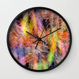 Abstract colors of autumn Wall Clock