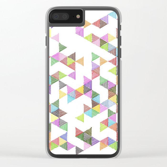 Technicolour Raindrops Clear iPhone Case