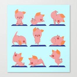 Pig Yoga Canvas Print